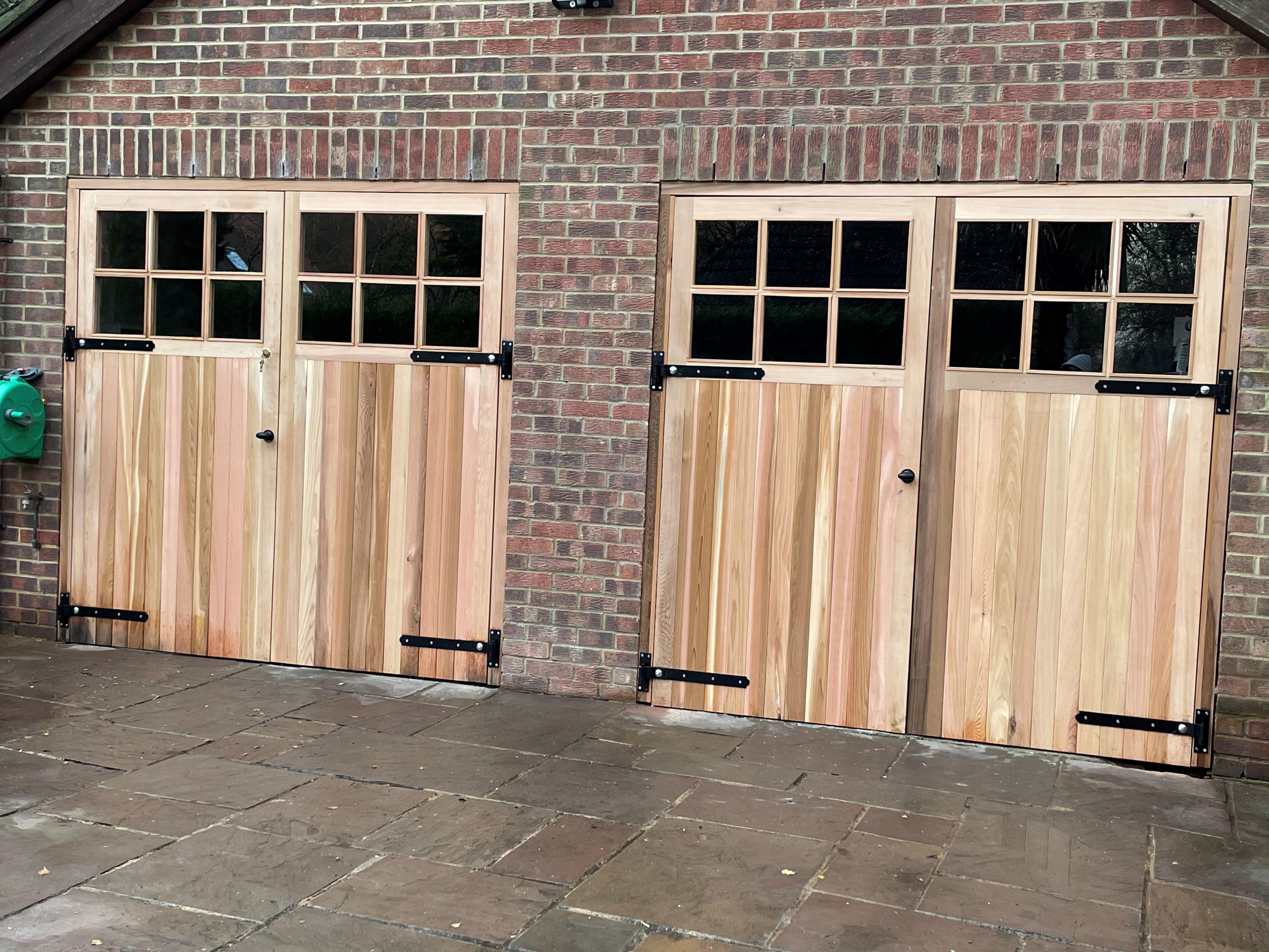 Cedar Compton Garage Doors